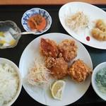 中華料理 美升 - 唐揚げ定食