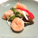 58701798 - 海老と季節野菜の岩塩炒め