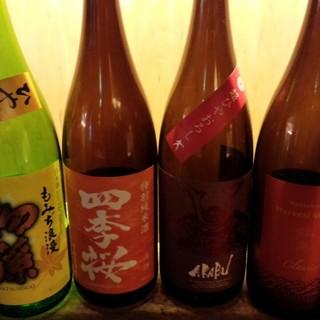 有名酒から珍しい限定酒などの日本酒を。