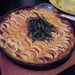 あら津(串焼き) - 山芋の鉄板焼きはフワフワでアツアツです。