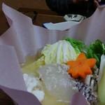 さくら川 - コース③鯛とモツの鍋
