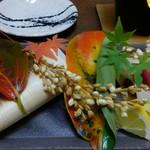 さくら川 - コース④寒ブリと松茸の杉板焼き