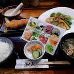 こだわりとんかつ あぢま - 選べる活と8種の健康サラダランチ H28.9