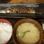 58712316 - 夜:新さんま塩焼き定食(890円税別)