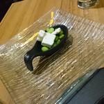 カリメロ - 極小っ?! モッツアレラと枝豆のマリネ 1スプーンで620円!?