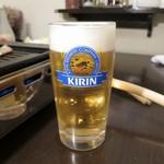 地鶏焼肉 くくる - 生ビール