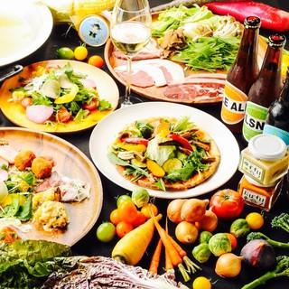 厳選した食材での多彩で豊富な品揃えです