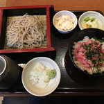 Ajimen - 「蕎麦とねぎとろ丼のセット」1134円