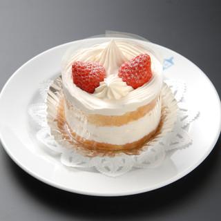 十番館自慢のケーキ、是非お召し上がりください。