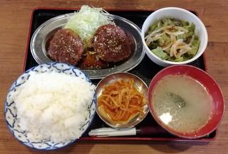 日本焼肉党 浅草橋東口店 - メンチカツ定食 550円