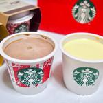 スターバックスコーヒー - チョコレートプリンとミクルカスタードプリン