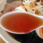 あじりんらーめん - あじりん特製らーめん850円(スープ)