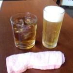 あきん - ひとくち生ビールとお冷