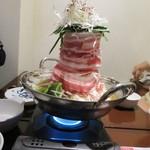 楽一 - 肉盛りタワー鍋(二人前)