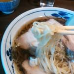 そば茶屋付知店 - 縮れ細麺