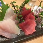 魚寅鮨 - 刺身三種盛り