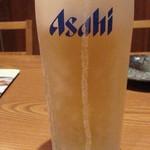 地酒とそば・京風おでん 三間堂 - 生ビールはスーパードライ通常590円がタイムサービスで290円