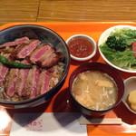 レストラン 味蕾亭 - ビーフステーキ丼(1080円)