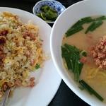福源 - 料理写真:とんこつ台湾ラーメン&台湾炒飯のセット♪
