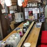千穂の家 - この窓から、おばちゃんがそうめんを流してくれます
