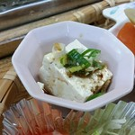 千穂の家 - 「やまめ定食 (1300円)」の「高千穂田舎豆腐」