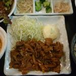 永秀 - 生姜焼き定食 税込900円