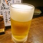 徳田酒店 御肉 - 生ビール(ザ・プレミアムモルツ)