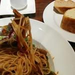 コロッセオ中目黒 - キャベツと豚肉パスタ1