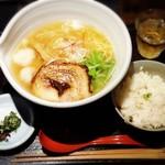 麺処 銀笹 - 塩ラーメン(850円)+半鯛飯(200円)