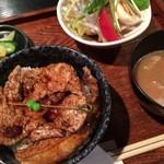 ブタリアンレストラン - ミニ豚丼セット《925yen》