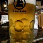 秋田長屋酒場 秋田駅前店 - 生ビールです。