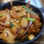 八光 - 豚キムチ炒め