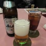 中納言 - 瓶ビールとウーロン茶