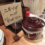 串揚げとハイボール酒場・ことり - だめだびょん(秋田弁で「だめですよ~」)