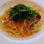 58762061 - おかひじきとからすみのスパゲッティ