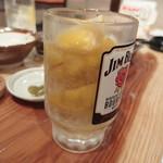 串揚げとハイボール酒場・ことり - ぎっしりと凍ったレモンが!!!
