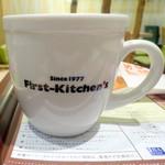 ファーストキッチン - ドリンク写真:1977年創業の文字が...いずれブランド名も消えるのだろうか?