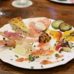 リカータ - シチリアの前菜盛り合わせ