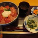 日本料理 銀座 大野 - 本鮪ばくだん丼@1000円(税抜き)
