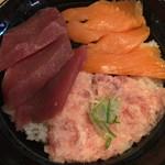 若狭家 - ねぎとろ・まぐろ・サーモン丼 ¥840