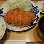 とんかつ寿々木 コレド室町2店 - ロースカツ定食(1300円)