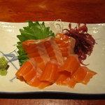 えんざ - 本日のおすすめ「秋鮭の刺身」