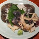 えんざ - 本日のおすすめ「ホッキ貝刺身」