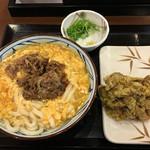 丸亀製麺 - 肉たまあんかけ&まいたけ天