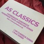 エーエス クラシックス ダイナー - テイクアウトはこういう箱に入れられます。