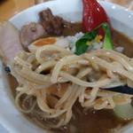鬼にぼ - 鬼にぼラーメンの麺