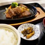 ステーキハウス寿楽 - 那須和牛おすすめサイコロステーキ+セット