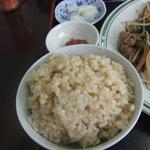 市場食堂 - 玄米(白米と玄米が選べます)