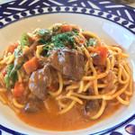 アダージオ - 料理写真:鹿肉のラグーときのこのボローニャ風スペゲッティーニ