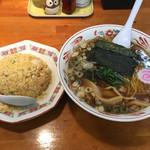 めんや梟 - チャーハンらーめんセット(850円)